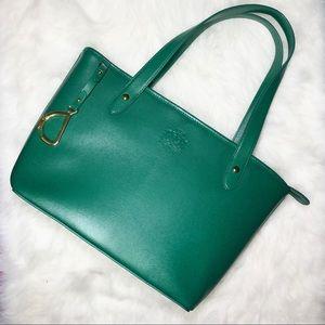 Ralph Lauren Sloan Street Shopper Leather tote